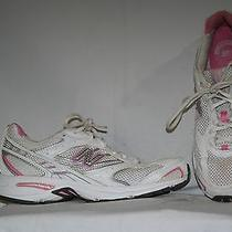 New Balance Running Women's Sneakers Size 8.5 White Pink Tennis Shoes  Photo