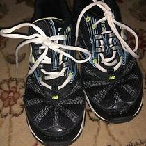 New Balance Women's Size 5.5 Black White Walking Sneakers Euc Photo