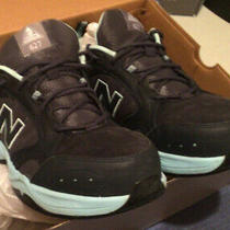 New Balance Womens Wid62627gl Safety Toe Shoe Sneaker Size 9.5 in Two-Tone Blue Photo