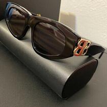 New Balenciaga Bb0095s Black Gold Grey Lens Sunglasses 53-19 W/case 9 Photo