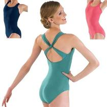 New Balera Dance Ballet Gymnastics Fancy Back Leotard Jade Green Cm Medium 8 10 Photo