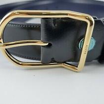 New Bally Dross 35 Mens Reversible Belt Black/blue Size 44 Adjustable Made Italy Photo