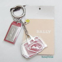 New Bally Kiwa Palladium Metal Metallic Keychain Keyring Key Chain Ring Charms Photo