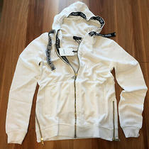 New Balmain White Color Hoodie Zipper Sweatshirt Size Medium Photo