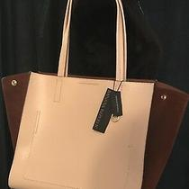 New Banana Republic 2-Tone Tote/purse Suede/pebbled Italian Leatherpink Blush Photo
