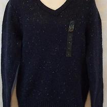 New Banana Republic Lambs Wool v Neck Men's Large Sweater Nwt 64.99 Photo