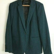 New Banana Republic Unstructured Teal Blue 1 Button Blazer Sport Coat Womens 14 Photo