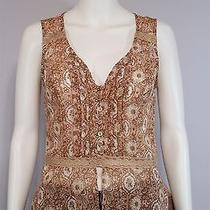 New Band of Gypsies Misses Medium Blush Pink Paisley Sheer Boho Blouse Shirt Top Photo