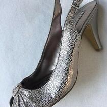 New Bandolino All My Love Lt Gold Reptile Slingback Heels 9m Photo