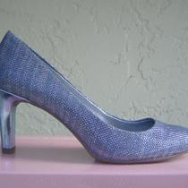 New Bandolino Blue Leather Textile Pumps Size 7.5  69 Photo