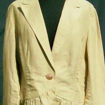New Bandolino Shrug Top Jacketbeige Linensize 14ruffle Hembombayfreeshcute Photo