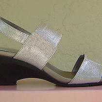 New Bandolino Silver Wedge Sandals Size 8 M 59 Photo