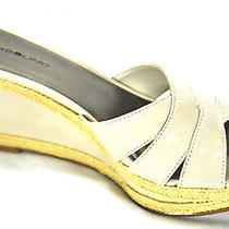 New Bandolino Size 8.5m Women's Taupe Slip on Wedge Sandals  Photo