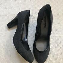 New Bandolino Size 9 Classic Gray Black Patterned Heels Pumps Dress Shoes Photo