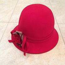 New Barbour Red Hat Lady Jane Wool Felt Hat - Xl Photo