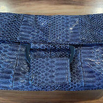 New Bcbg Generation Charcoal Faux Reptile Skin Clutch Purse Nwt Nos Photo