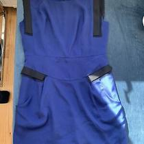 New Bcbg Generation Short Fitted Dress Size 10 Blue Photo