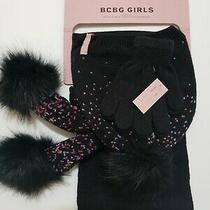 New Bcbg Girls Set Scarf Hat and Gloves Mrsp 60 Photo