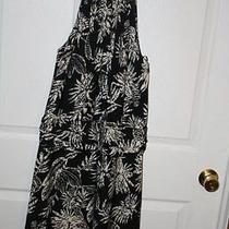 New Bcbg Max Azaria Black White Palm Sleeveless Dress Womens Sz 6 Photo