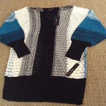 New Bcbg Max Azria 3/4 Inch Sleeve Sweater Beautiful Size L  Retail 140.00 Photo