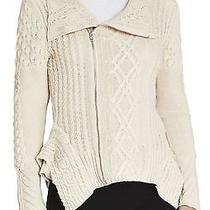 New Bcbg Max Azria Ht. Corozo Zanzi Cabeknit Moto Sweater Vvp4g770/b117a Size Xs Photo