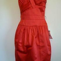 New Bcbg Maxazria 8 Medium Red Strapless Formal Evening Sweetheart Dress Pockets Photo