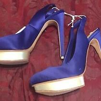 New Bcbg Maxazria Blue Super High Heels Size 9.5  Photo