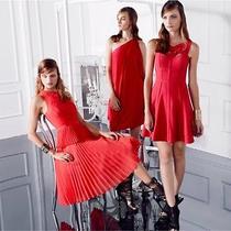 New Bcbg Rio Red Yasminka Corset a-Line Dress 8 268 Fzb6y665  Photo
