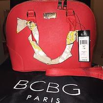 New Bcbg Women Red Tote Bag Nwt 128 Photo