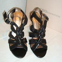 New Bcbgeneration Bcbg Womens Black Natural Nappa Sandals Shoes 8 Medium Photo