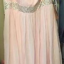 New Beautiful Blushing Pink Dress Size 24 Photo