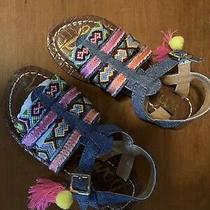New Beautiful Sam Edelman Girl Sandals Size 13 Multi Color Photo
