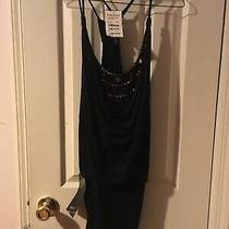 New Bebe Black Dress With Gold Studs S Photo