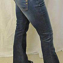 New Bebe Designer Classic Stretch Flare Wide Leg Jeans Sz 28 6 Dark Wash Denim Photo