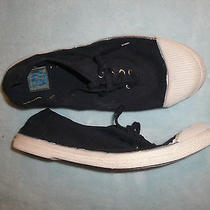 New Bensimon Low Top Classic Sneakers Shoes Mens Sz 8(42) Navy Blue Photo