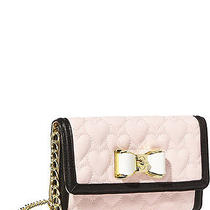 New Betsey Johnson Blush Be My Bow Wallet on the String Handbag -Sale Photo