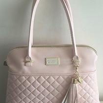 New Betsey Johnson Diamond Quilt Dome Satchel Handbag Blush Pink Purse Tassel Ne Photo