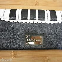 New Betseyville Flap Wallet Handbag 68 Betsey Johnson Piano Black White Scallop Photo