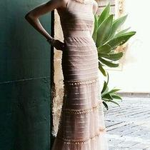 New Bhldn Va Et Vien Swansdown Dress Tiered Swiss Dot Blush Wedding Gown Sz 6 Photo