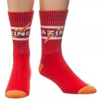 New Big Bang Theory Athletic Red Crew Socks Licensed Tv Show Bazinga Photo