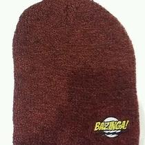 New Big Bang Theory Bazinga Logo Beanie Osfm Sheldon Cooper Tv Show Photo