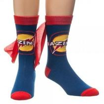 New Big Bang Theory Crew Socks With Cape Licensed Tv Show Bazinga Photo