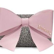 New Big Bow Chic Dotted Clutch Bag W Blush Bow/ Betsey Johnson Photo