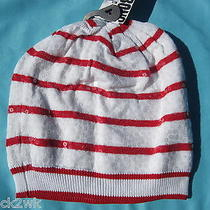 New Billabong Knit Beanie Cap Hat Stripes Sequins Womens S M L Osfa Photo