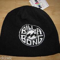 New Billabong Knit Beanie Cap Hat Womens S M L Osfa Black White Photo