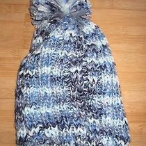 New Billabong Knit Beanie Cap Hat Womens S M L Osfa Pom Pom Blue Photo