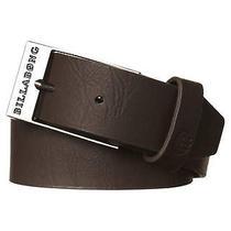 New Billabong Men's Bower Belt Leather Accessories Brown Photo
