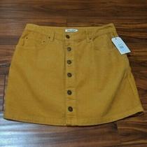 New Billabong Women's Good Life Cord Skirt Black Size 31 Corduroy Nwt Photo