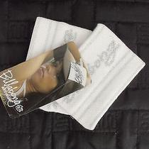 New Billabong Women's White & Silver Wrist Sweatbands Nwt Photo
