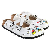 New Birkenstock Dorian Minnie & Mickey Ladies 37 N 6 Photo